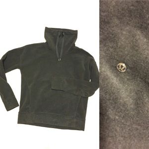 Lululemon Charcoal Fleece Funnel Neck Pullover 6